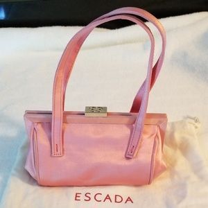Escada Pink Satin Mini Handbag